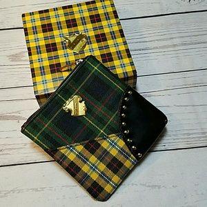 MAC Cosmetics Bags - MAC tartan plaid purse makeup bag